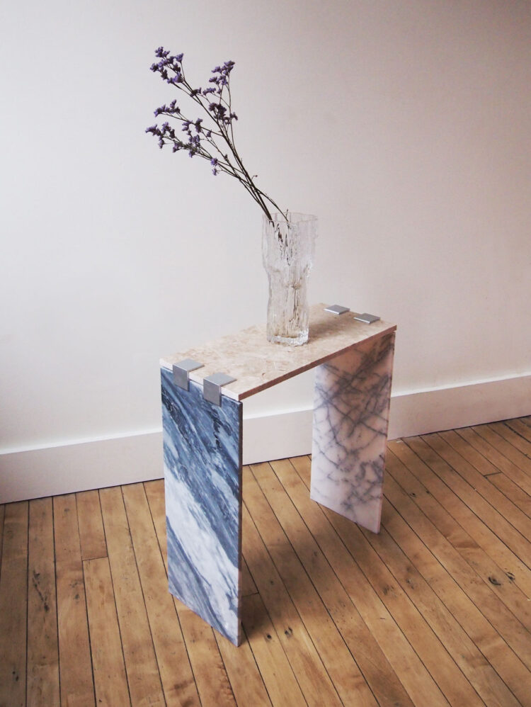 Marble Tile Side Table