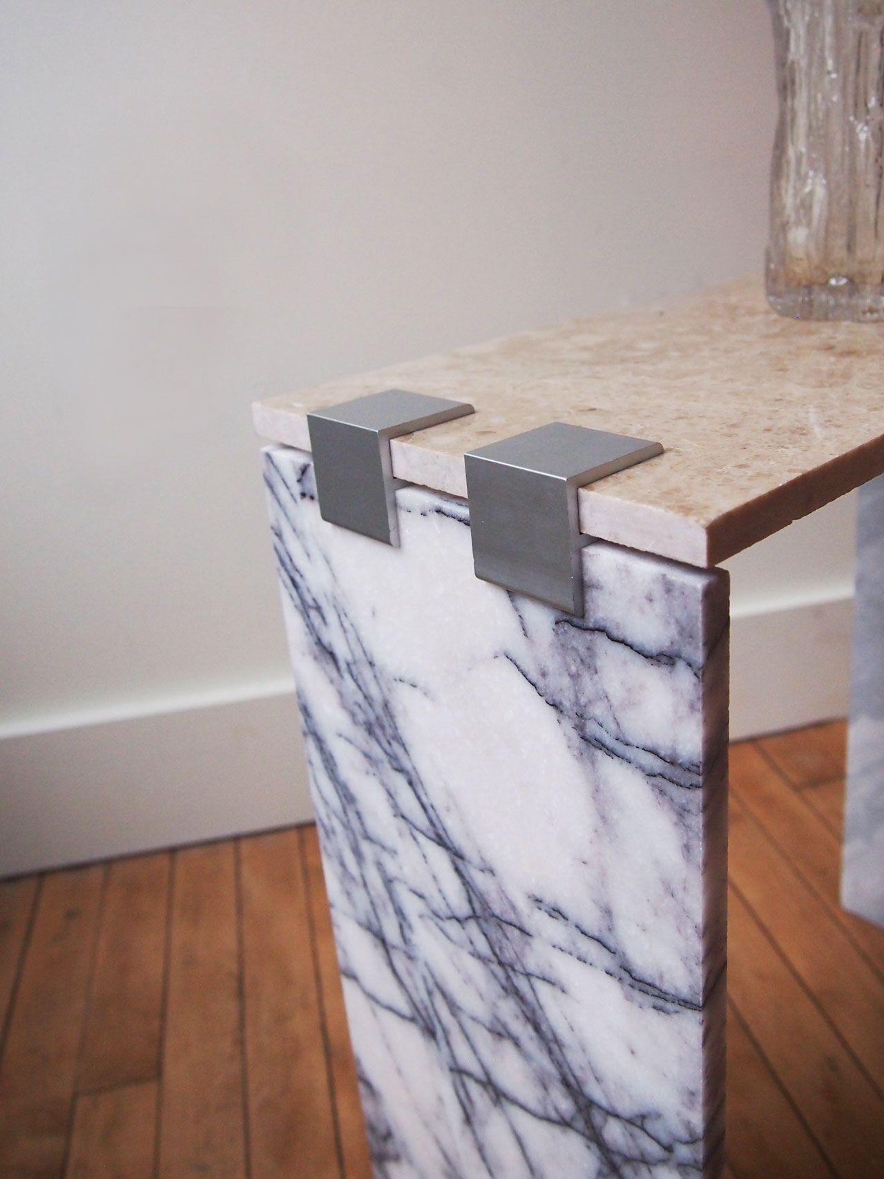 DIY marble tile side table designed by Aandersson