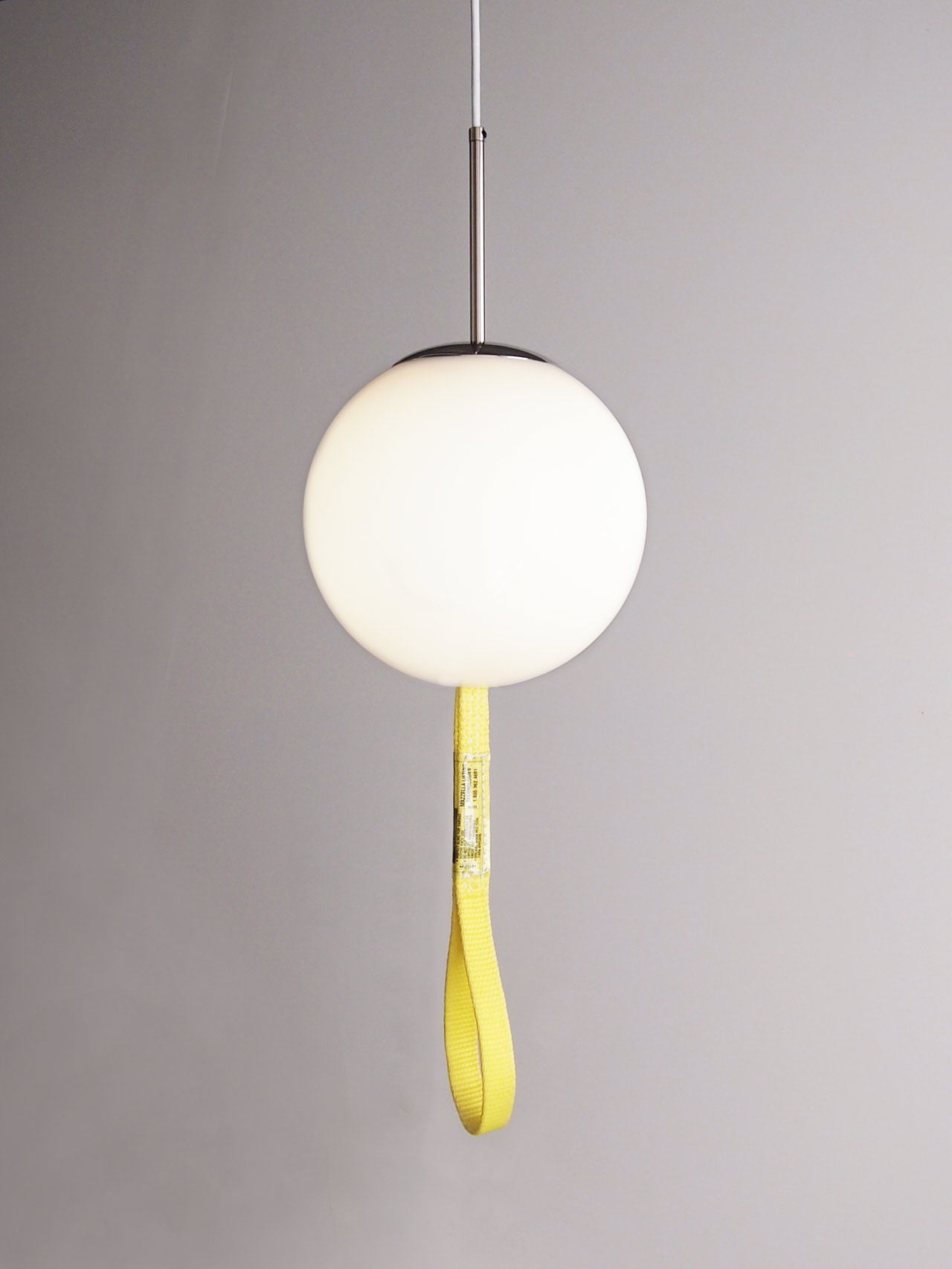 DIY globe pendant light designed by Aandersson