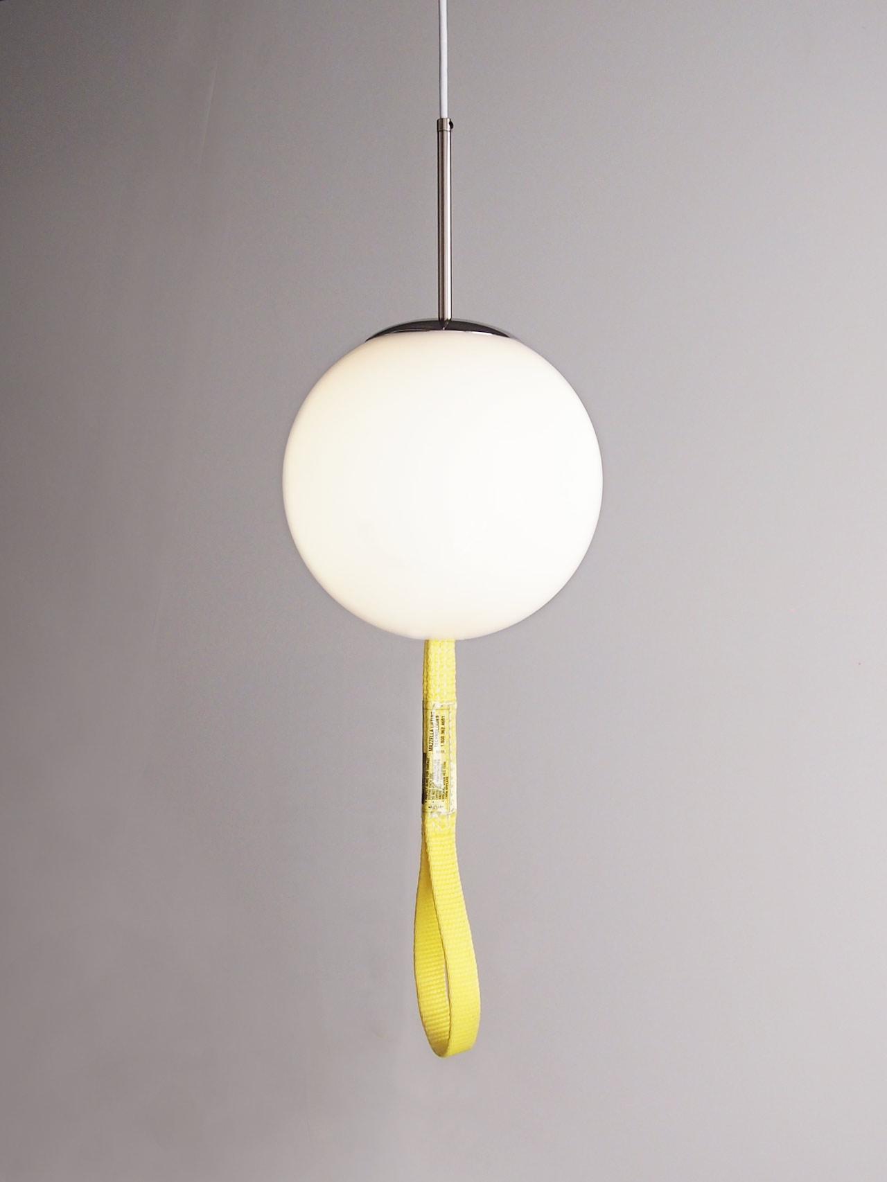 DIY globe pendant light designed by Aandersson