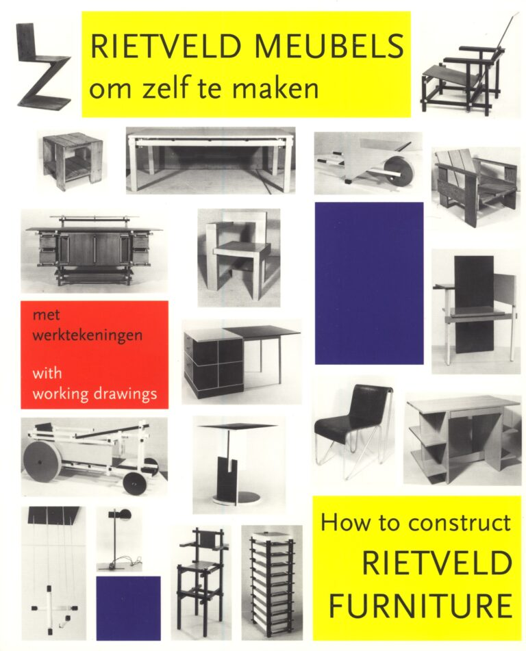 Gerrit Rietveld How to construct rietveld furniture DIY instruction book