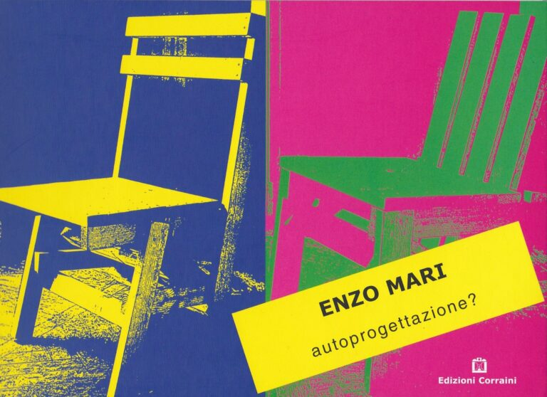 Enzo Mari autoprogettazione DIY design instruction book