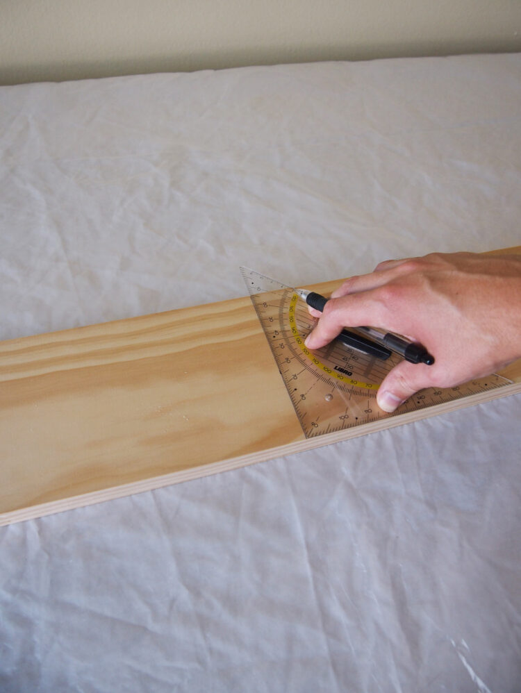 1     Using a square tool and tape measure, measure and mark these lengths of wood: 3 pieces 19.75in (500mm) long, 6 pieces 15.75in (400mm) long, 4 pieces 24.25in (620mm) long, 1 piece 17in (430mm) long, 1 piece 18.5in (468mm) long.